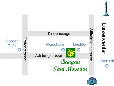 Lageplan Banyan Thai Massage